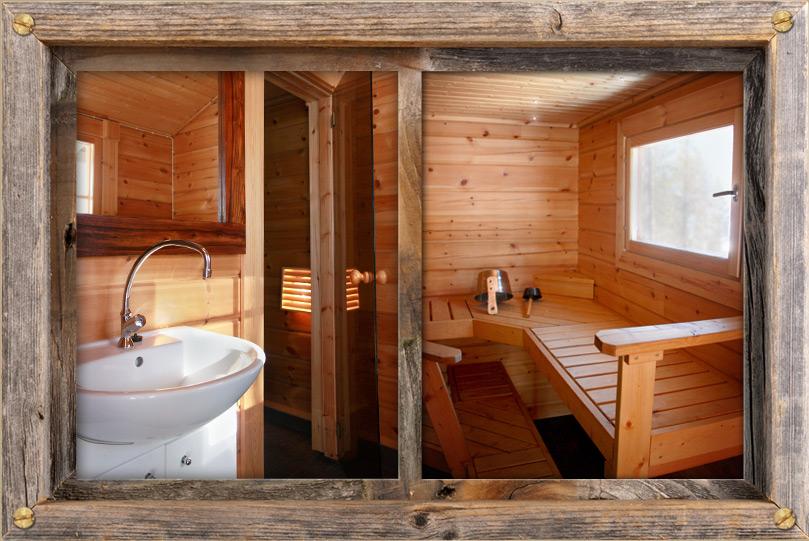 Upea ja tilava sauna