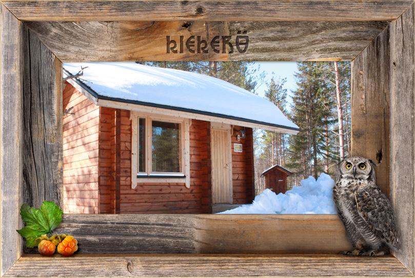 Villi Lapin Kiekerö - mökki keskellä luonnon rauhaa