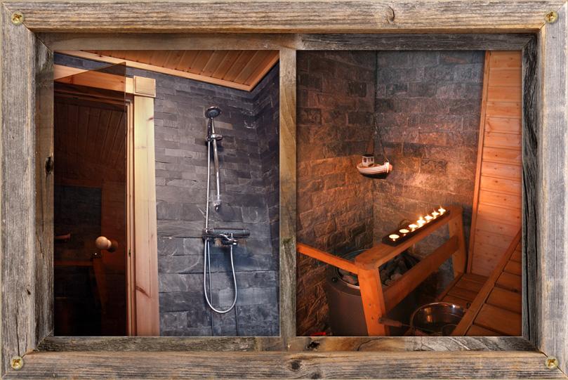 Upea sauna jossa saat kunnon löylyt